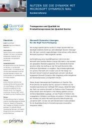 Kundenreferenz Quantel Derma der prisma informatik