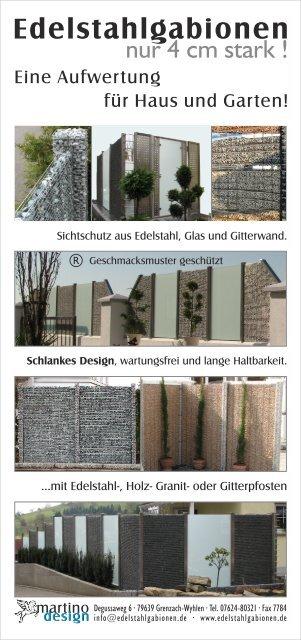 Kower Din Lang Martino Design Sichtschutz Edelstahl