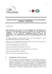 Beraadslaging nr. 12/109 van 20 november 2012, gewijzigd op 18 ...