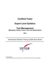 Certified Tester Expert Level Syllabus Test Management - gasq