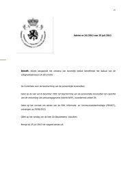 Advies aangaande het ontwerp van koninklijk besluit betreffende het ...