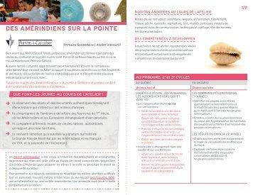 Télécharger la fiche pédagogique - Pointe-à-Callière