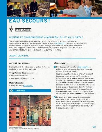 Télécharger le carnet (PDF) - Pointe-à-Callière
