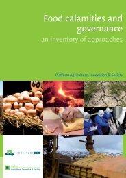 Food calamities and governance