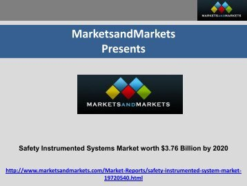 Safety Instrumented Systems Market by Component & Application