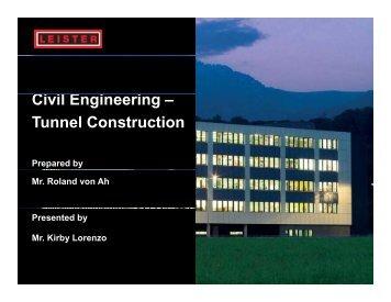 Ci il E i i Civil Engineering – Tunnel Construction - KIV Marketing ...