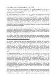 Erklärung zur Unternehmensführung nach § 289 a ... - Pearl Gold AG