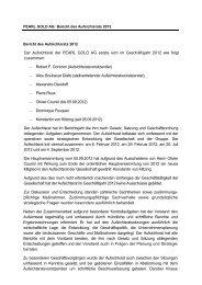 Der Aufsichtsrat der PEARL GOLD AG setzte sich im Geschäftsjahr ...