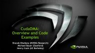 Cudadma: Overview and Code Examples