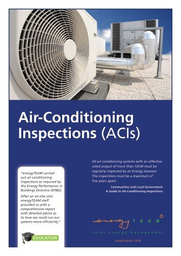 Air-Conditioning Inspections (ACIs)
