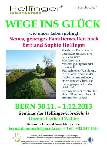 WEGE INS GLÜCK - Bert Hellinger