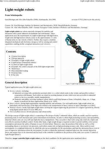 Light-weight robots - Schol... - phriends