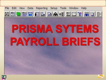 Payroll Briefs PDF - PRISMA Systems