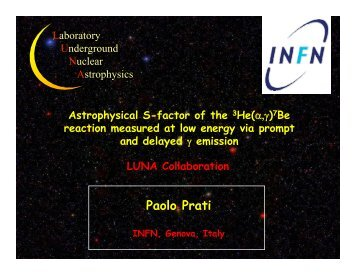 7Be reaction measured at low energy via prompt - Archive of INPC ...