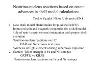 Neutrino-nucleus reactions based on recent advances in shell ...