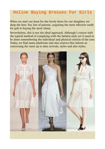 Online Buying Dresses For Girls