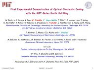 First experimental demonstration of optical stochastic cooling with ...