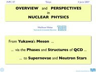 OVERVIEW and PERSPECTIVES in NUCLEAR PHYSICS From ...