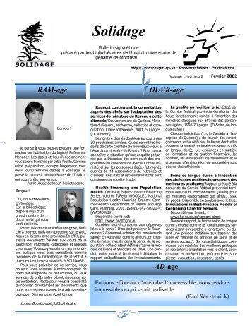 Février 2002 (Vol.1 No.2) - Solidage