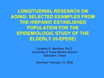 longitudinal research on aging: selected examples from ... - Solidage