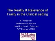 The Reality & Relevance of Frailty in the Clinical setting - Solidage