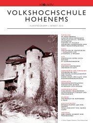 VOLKSHOCHSCHULE HOHENEMS