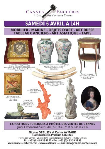 Télécharger le catalogue au format PDF - Cannes - Enchères