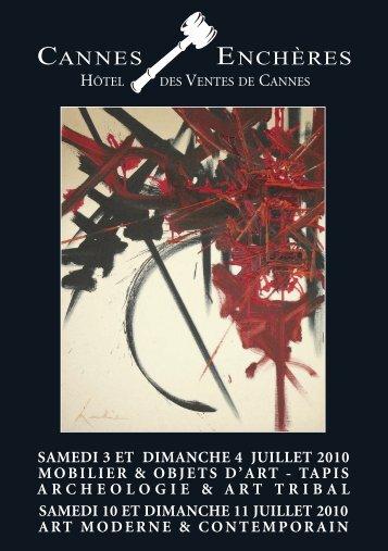 CANNES 07 JUILLET:CANNES AVRIL 10 - Cannes - Enchères