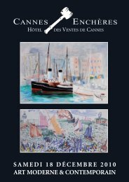 Art moderne & contemporain - Cannes - Enchères