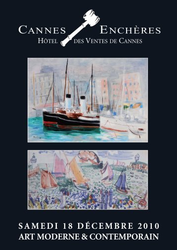 Art moderne & contemporain - Cannes - Enchères