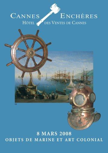 Objets de Marine et art colonial - Cannes - Enchères