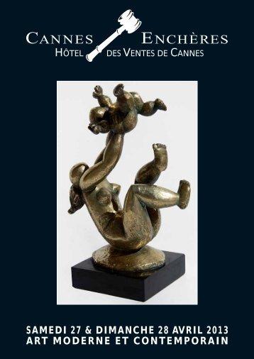 samedi 27 & dimanche 28 avril 2013 art moderne et contemporain