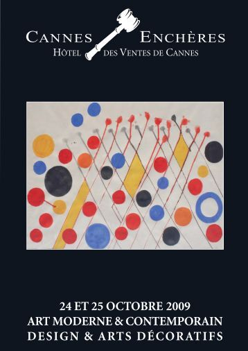 Art moderne & contemporain - Design & arts décoratifs - Cannes ...