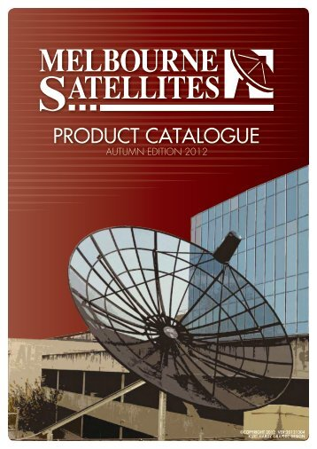 PRODUCT CATALOGUE - Melbourne Satellites