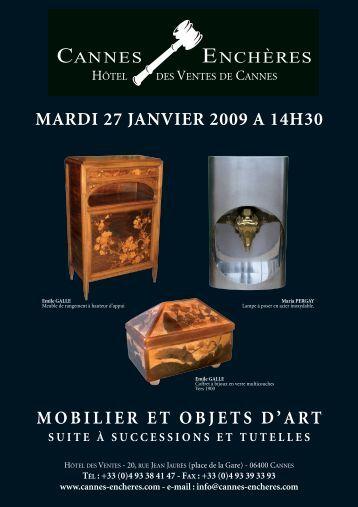 Mobilier et objets d'art - Cannes - Enchères