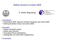 Hadron structure in Lattice QCD - Archive of INPC 2007