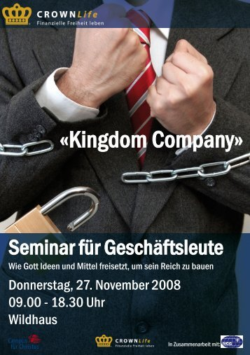 Flyer Geschäftsleuteseminar_2008 - CROWN Life Schweiz