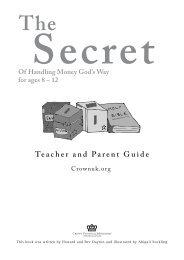 Teacher and Parent Guide - CROWN Life Schweiz