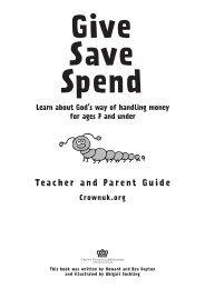 Teacher and Parent Guide Crownuk.org - CROWN Life Schweiz