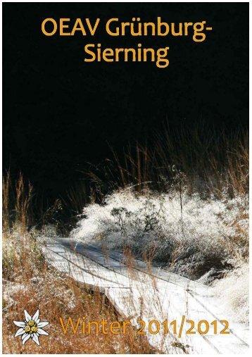 Winterprogramm 2011/2012 (pdf) - ÖAV Ortsgruppe Sierning