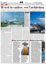 l'architettura si fa cinetica, IL SOLE 24 ORE - EDILIZIA E