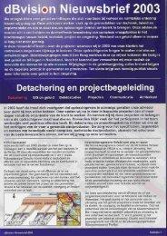 dBvision Nieuwsbrief 2003