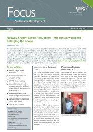 Sustainable Development Noise Railway Freight Noise ... - dBvision
