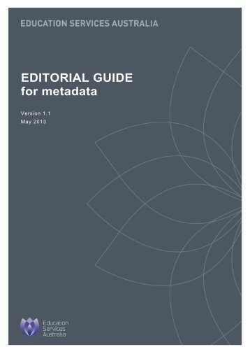 Editorial guide for metadata - National Digital Learning Resources ...