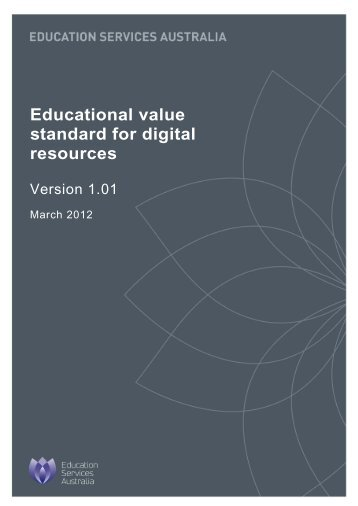 Educational value standard for digital resources (PDF, 304 KB)