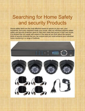 Searching for Home Safety and security Products