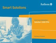Smart Solutions - California group health insurance