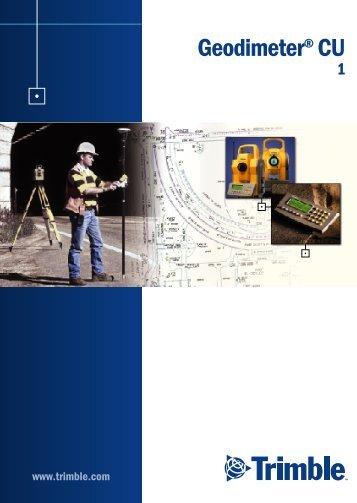 Libreta Electrónica Trimble Geodimeter CU - GST - Gestión de ...