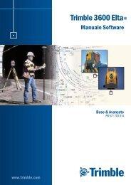 Trimble 3600 Elta Manuale Software Base & Avanzato - Instrumetrix