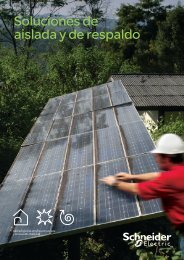 Soluciones de aislada y de respaldo - Schneider Electric